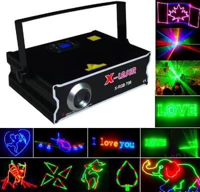 Уличная реклама, уличный лазерный проектор